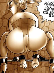 Tit fuck slut bondage cartoon