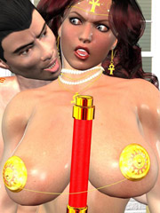 Dirty bitch jane gets her cooch creampied by horny tarzan in a cool porn comix