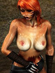 Cartoon giant banging hard into ass bound with chains cool girl